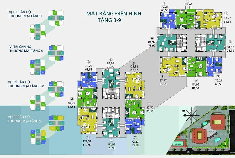 Mặt bằng điển hình Chung cư Ngoại Giao Đoàn N04B-T1